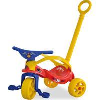 Triciclo Mickey Com Empurrador E Proteção Vermelho Xalingo