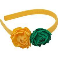 Tiara Flores Verde & Amarelo - Roana
