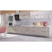 Cozinha Modulada Completa Com 11 Módulos Branco/Fresno - Art In Móveis