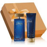 Kit Diva Nuit Desodorante Colônia + Hidratante Desodorante Corporal + Embalagem