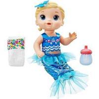 Boneca Baby Alive Linda Sereia Com Acessórios - Feminino-Azul
