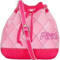 9be57d029 Dafiti; Bolsa Infantil Princesa Pink Estampa Matelassê Rosa Mochilinha Rosa