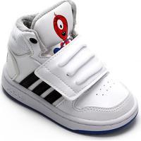 Tênis Adidas Hoops Mid 20 Infantil - Unissex-Branco+Preto