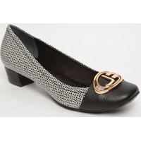 Sapato Tradicional Em Couro Aviamento Metalizado - Pretojorge Bischoff
