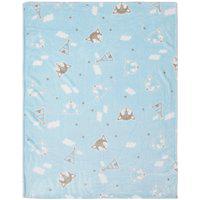 Cobertor Papi Microfibra Raposa Azul