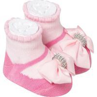 Sapatinho De Bebe Recem Nascido Menina Rosa
