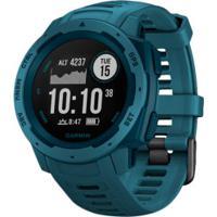 Monitor Cardíaco Com Gps Garmin Instinct - Azul
