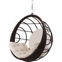 Poltrona De Balanco Bowl Em Aluminio Revestido Em Fibra Sintetica Cor Argila - 45205 - Sun House