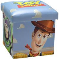 Puff Toy Story® - Azul Claro & Off White - 40X38X38Cmabruk