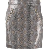 Patrizia Pepe Python-Print High-Waist Skirt - Cinza