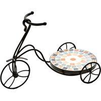 Floreira Bicicleta Com Mosaico- Preta & Marrom- 35X4Btc Decor