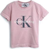 Blusa Calvin Klein Kids Menina Escrita Rosa
