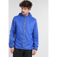 Jaqueta Corta Vento Masculina Esportiva Ace Com Capuz Azul Royal