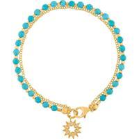 Astley Clarke Pulseira 'Sun Biography' Banhada A Ouro 18Kt - Azul
