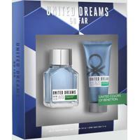 Kit Masculino Perfume E Pós Barba - United Colors Of Benetton Dreams Go Far