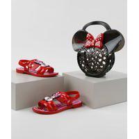 Sandália Infantil Grendene Minnie+ Bolsa Vermelha