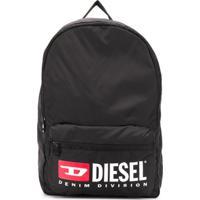 Diesel Kids Mochila Com Estampa - Preto