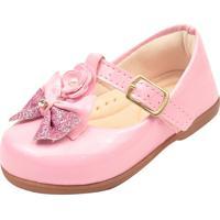 Sapatinho Infantil Bebê Daferinha Sapatilha Menina Ref 4206 Verniz Rosa