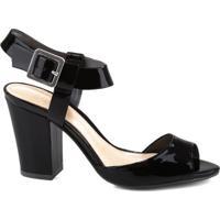 Sandália Block Heel Verniz Black | Schutz