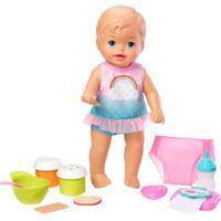 Boneca Bebê - Little Mommy - Faz Xixi Deluxe - Vesitdo Arco-Iris - Mattel