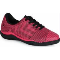Chuteira Futsal Infantil Listras Pink Pink