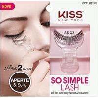 Cílios Postiços Inteiriços Com Aplicador So Simple Lash 02 Kiss New York - Feminino-Incolor
