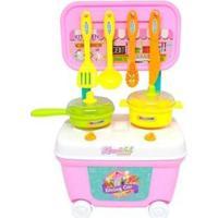 Cozinha Infantil Carrinho Da Chef - Feminino-Colorido