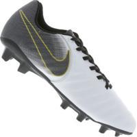2e54967078 Chuteira De Campo Nike Tiempo Legend 7 Academy Fg - Adulto - Branco Preto