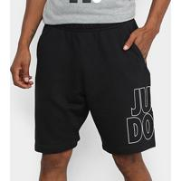 Bermuda Nike Nsw Jdi Ft Masculina - Masculino-Preto+Branco