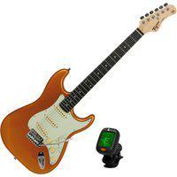Guitarra Elétrica Tagima Tg-500 Stratocaster Dourada + Afinador Cs4 Nucleo