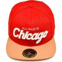 Boné Other Culture Snapback Chicago Run Vermelho/Bege