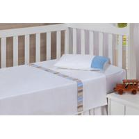 Jogo De Lençol Charisma Baby Splendor Branco Percal 233 Fios