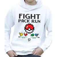 Moletom Oba! - Fight. Pack Run Branco