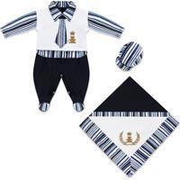 Saída De Maternidade Padroeira Baby Império Azul Marinho