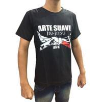 Camiseta Jiu Jitsu Black Belt Ufc - Masculino-Preto