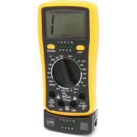 Multímetro Digital Star Cable Profissional Hy4300 Amarelo/Preto