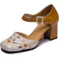 Sapato Mzq Feminino Sophia - Araçá / Pequi 5989