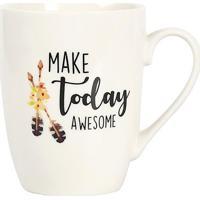"""Caneca """"Make Today Awesome""""- Branca & Preta- 330Ml"""