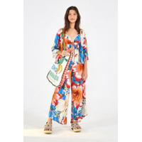 Macacao Cropped Floral Baiano