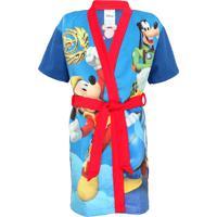 Roupão Lepper Infantil Mickey Azul