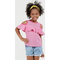 Blusa Infantil Open Shoulder Listrada Marisa