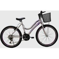 Bicicleta Top Aro 24 Mtb 18/M Musa Branca E Violeta Athor Bike