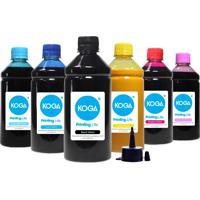 Kit 6 Tintas Bulk Ink Sublimática Para Epson T673 Cmyk 500Ml Koga