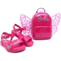 Barbie Sandalia Infantil Menina Kids Butterfly Mochila Brinde Grendene 22370