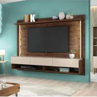 Painel Home Suspenso Para Tv Até 65 Polegadas Com Suporte Para Tv Magnific 2.2 Caemmun Havana/Off White