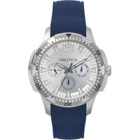 Relógio Nautica Masculino Borracha Azul - Napsdg002