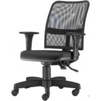 Cadeira Soul Assento Crepe Preto Braco Reto Base Metalica Com Capa - 54218 - Sun House