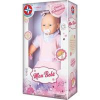 Boneca Meu Bebê Vestido 60 Cm Estrela - Feminino-Rosa