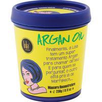 Máscara Reconstrutora Lola Argan Oil 100% Natural Controle Frizz Proteção Térmica Repõe Aminoácidos 230G