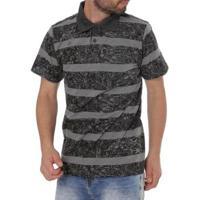 Camisa Polo Drop Life Masculina - Masculino-Preto